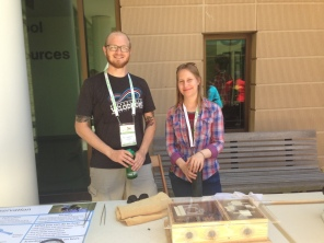 Ben and Christy at the outreach table